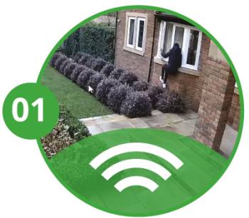 Residential remotely monitored cctv